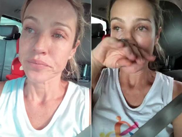 Luana Piovani chora e critica políticos (Foto: Reprodução/Instagram)