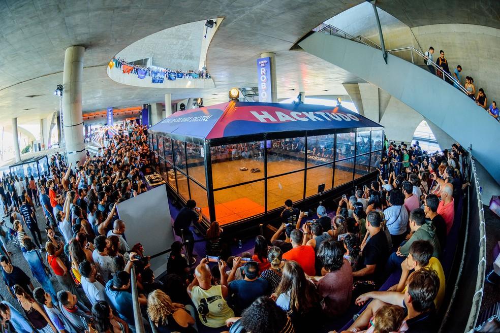 HackRobot, a Arena de Rôbos do festival Hacktudo 2019 — Foto: Divulgação/Hacktudo