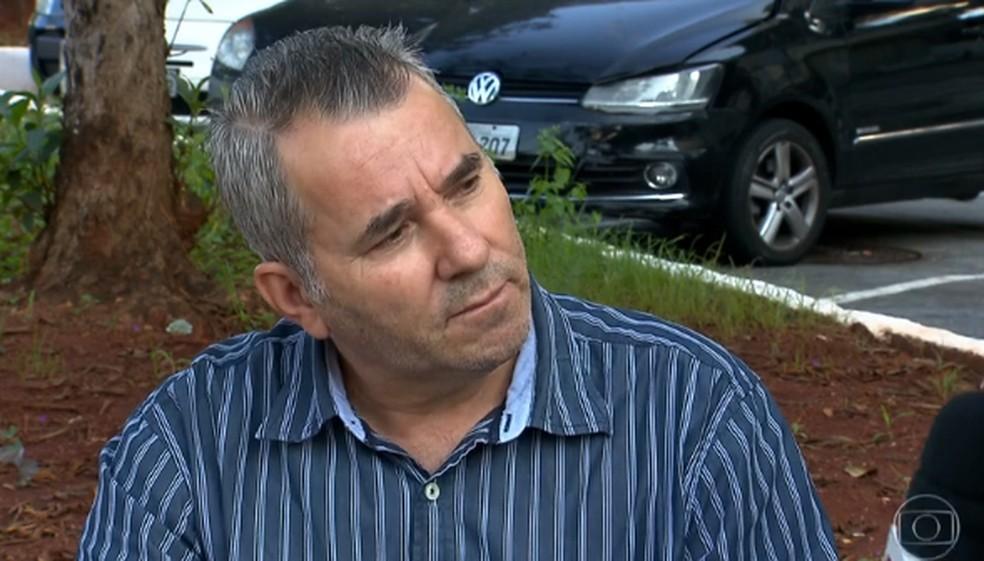 Marcelo Ricardo Silva faz denúncia contra o deputado Alexandre Frota — Foto:  Reprodução/ Jornal Nacional