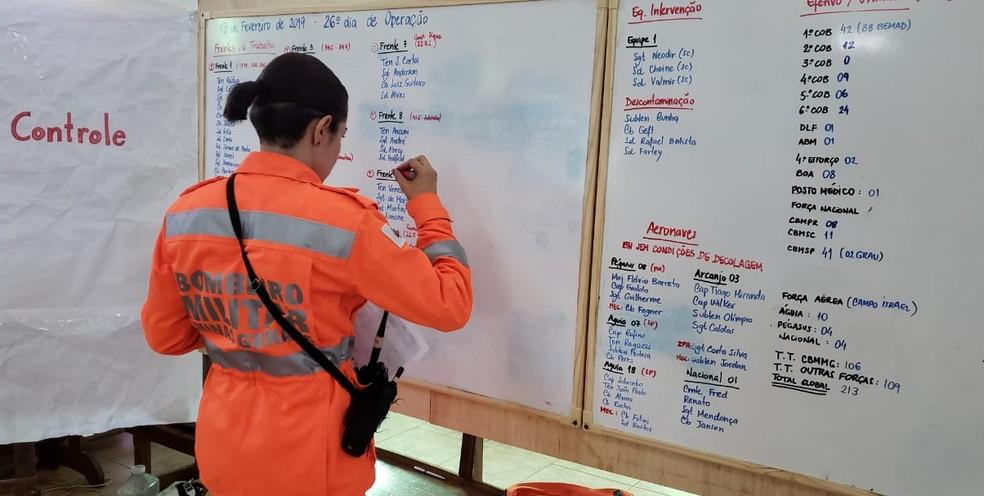 Há 30 dias, militares seguem com rotina de buscas em Brumadinho — Foto: Raquel Freitas/G1