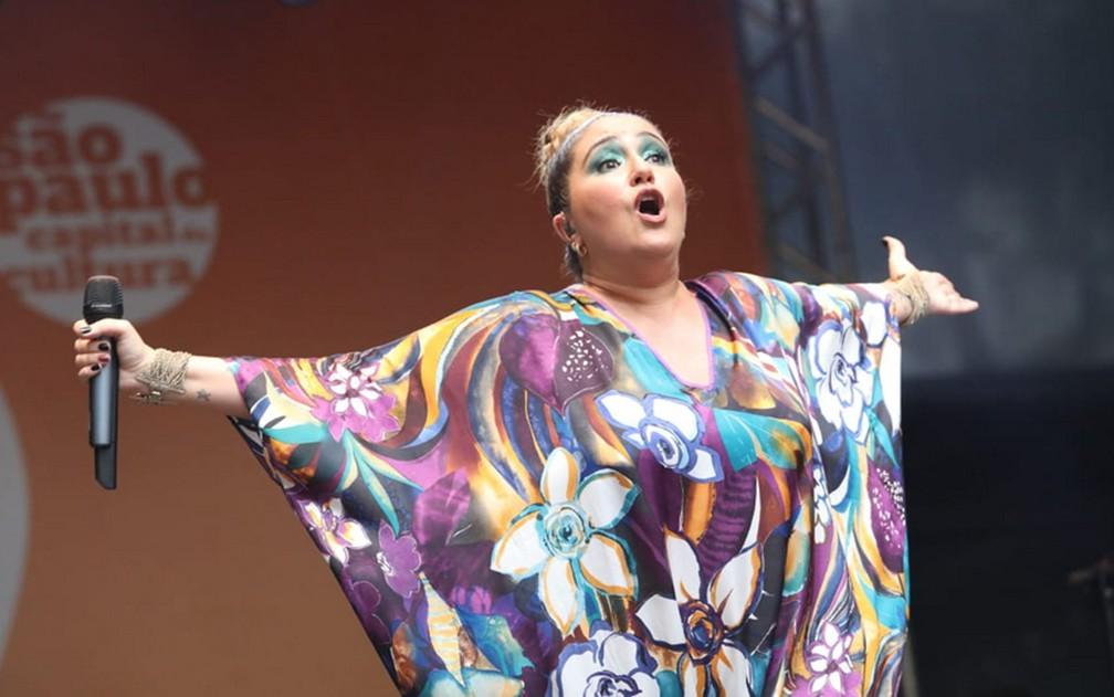 Maria Rita em show da Virada Cultural — Foto: Fábio Tito/G1