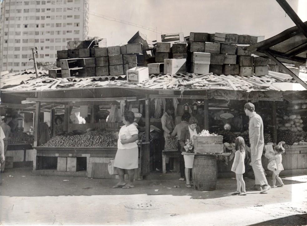 Mercado Central de BH era totalmente descoberto — Foto: Mercado Central de BH/Divulgação