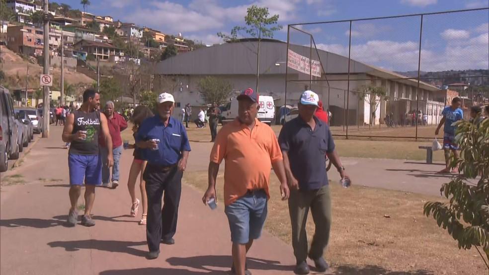 Moradores de 27 bairros participaram do simulado — Foto: Reprodução/TV Globo