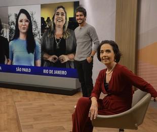 Bruno Barros e Vera Barroso no novo cenário do 'Sem censura' | Fernando Frazão