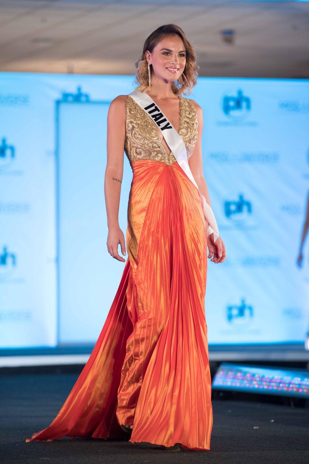 Maria Polverino, Miss Itália (Foto: Matt Petit/Miss Universe Organization/AFP)
