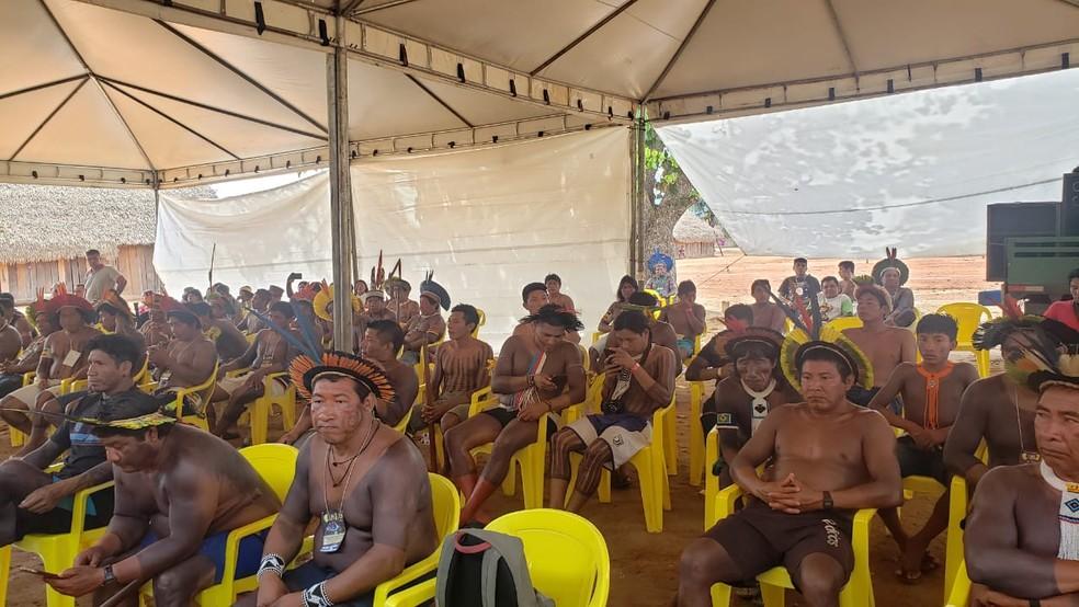 Encontro reuniu mais de 600 índios do Brasil — Foto: Ianara Garcia/TVCA