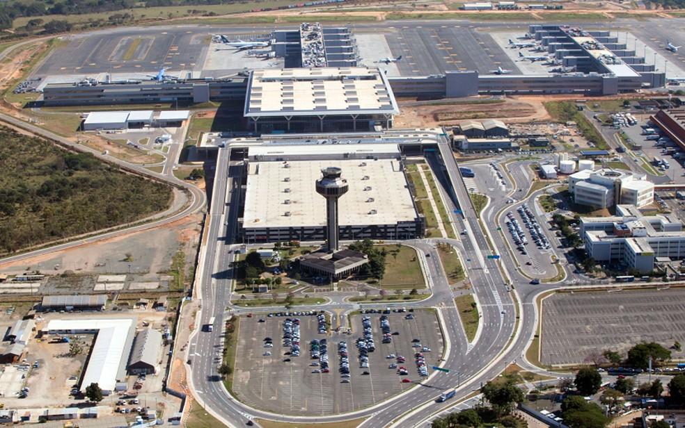 Vista aérea do Aeroporto Internacional de Viracopos, em Campinas — Foto: Ricardo Lima/Divulgação