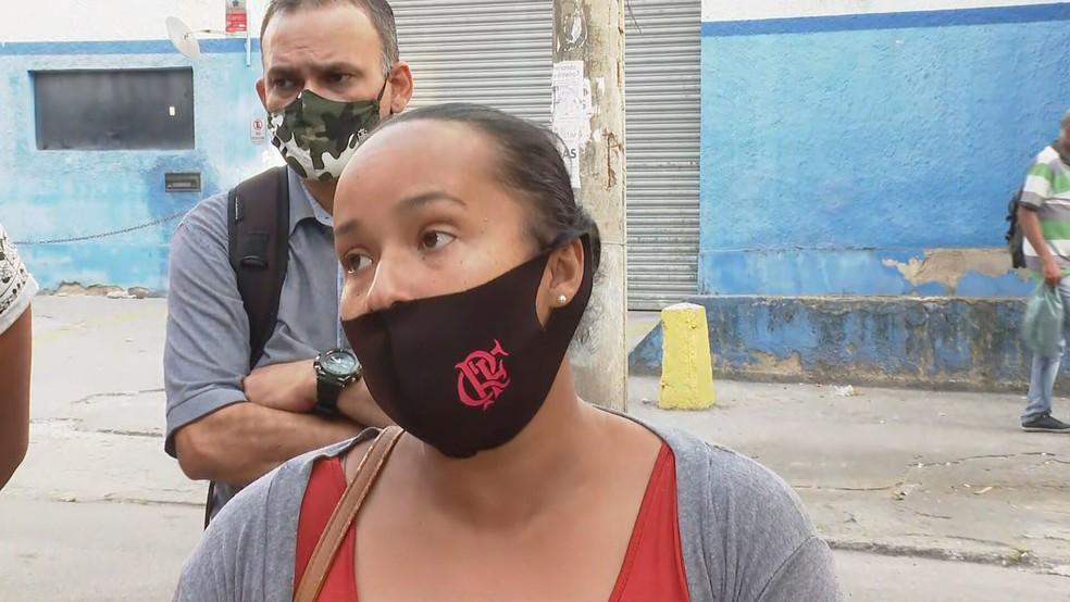 Gestante diz que saiu de Petrópolis para consulta no hospital — Foto: Reprodução/TV Globo