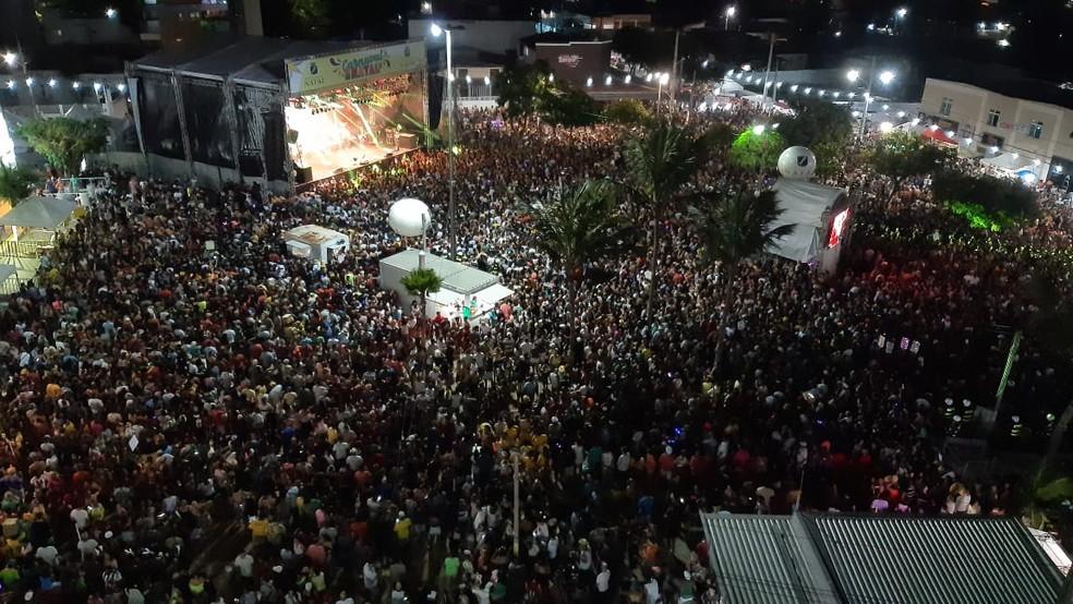 Carnaval em Natal no ano de 2020 (Arquivo) — Foto: Sérgio Henrique Santos/Inter TV Cabugi