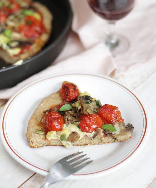 Receita de massa de pizza vegana e sem glúten da chef Gabi Mahamud (Foto: Divulgação)