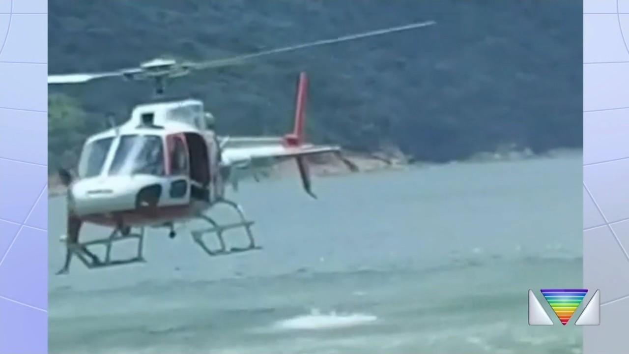 Criança de cinco anos é resgatada pelo Águia após se afogar em praia de Ubatuba