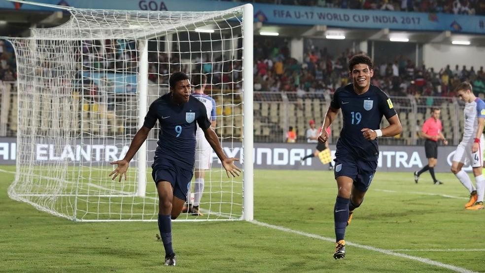 e22dc1739e851 ... Brewster (9) comemora gol da Inglaterra no Mundial Sub-17 — Foto
