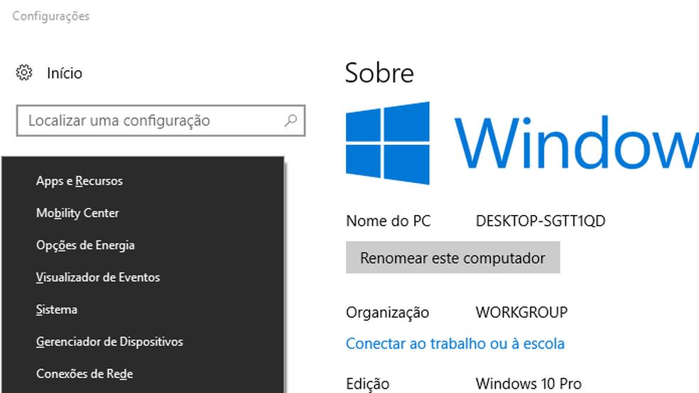 Veja como descobrir qual Windows está instalado no seu PC — Foto: Edivaldo Brito/TechTudo