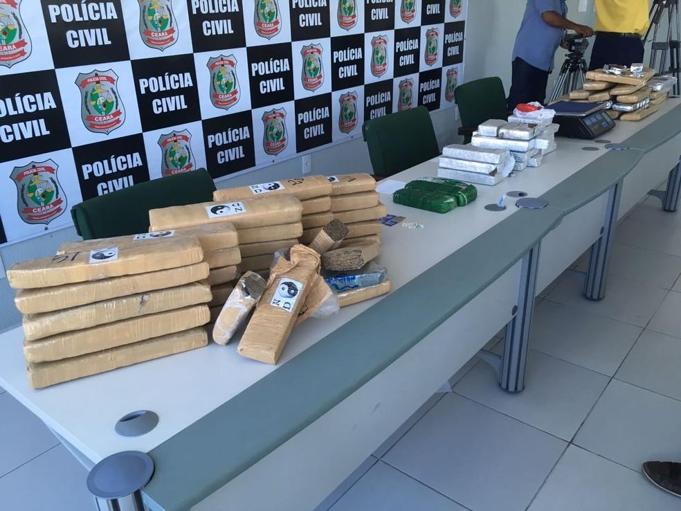 Quase 70 quilogramas de drogas foram apreendidos pela Polícia em cinco dias, em Fortaleza e Região Metropolitana (Foto: Wânyffer Monteiro)