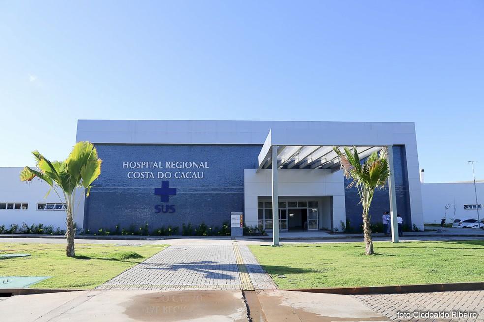 Hospital da Costa do Cacau fica em Ilhéus, no sul da Bahia — Foto: Clodoaldo Ribeiro/ Divulgação