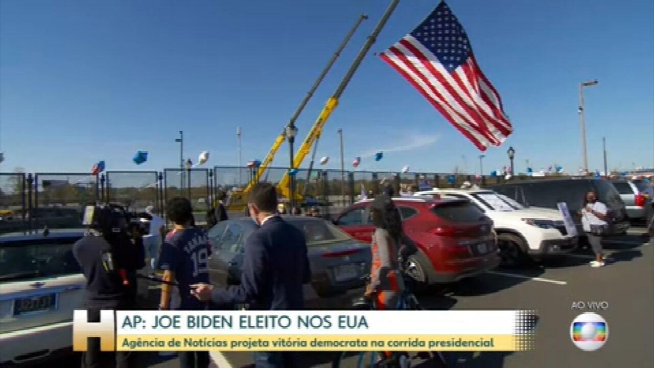 Veja como está o local onde será a festa de comemoração de Biden