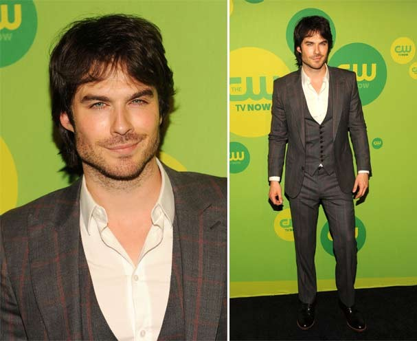 Ian Somerhalder em evento do canal CWna noite de quinta (16/50 (Foto: Getty Images)