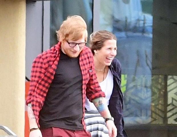Ed Sheeran e Cherry Seaborn (Foto: AKM-GSI)