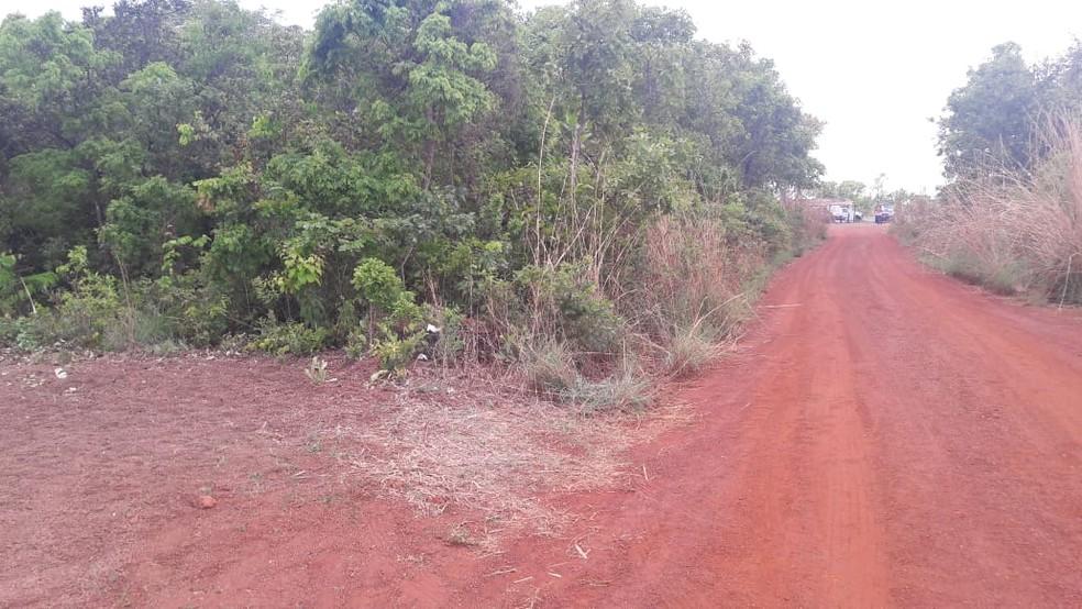 Corpo do caminhoneiro Gustavo Diresta foi encontrado área de mata às margens da BR-364 em Diamantino — Foto: Polícia Civil de Mato Grosso/Assessoria