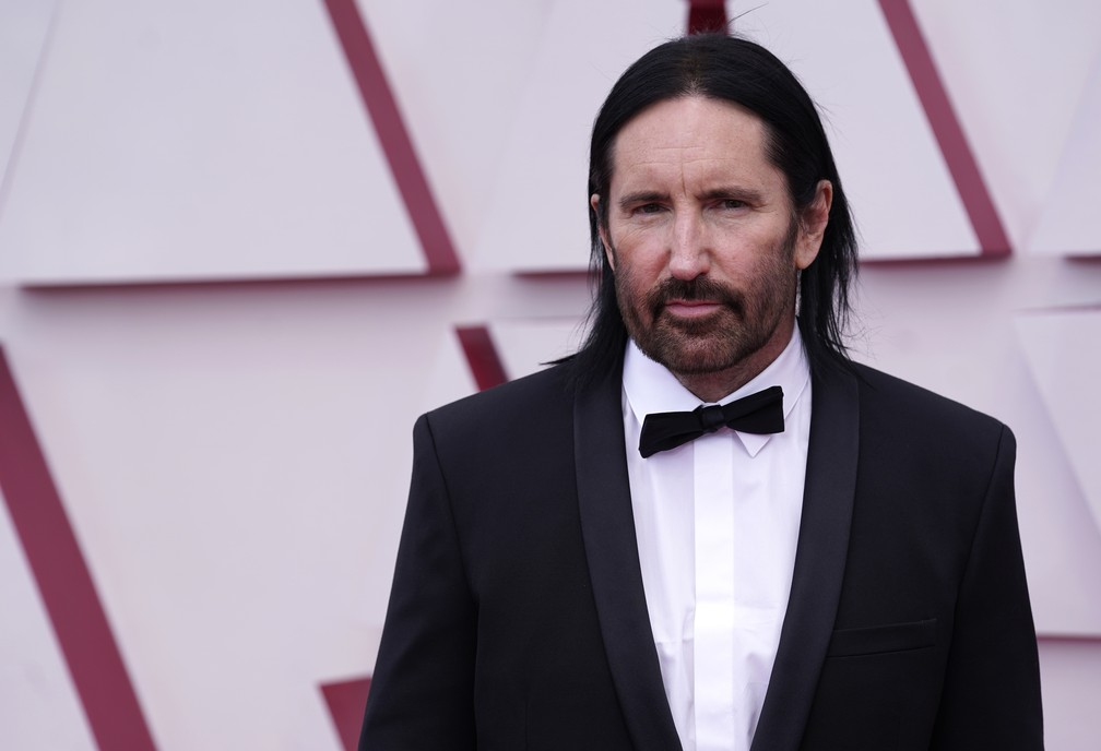 Trent Reznor no Oscar 2021 — Foto: AP Photo/Chris Pizzello