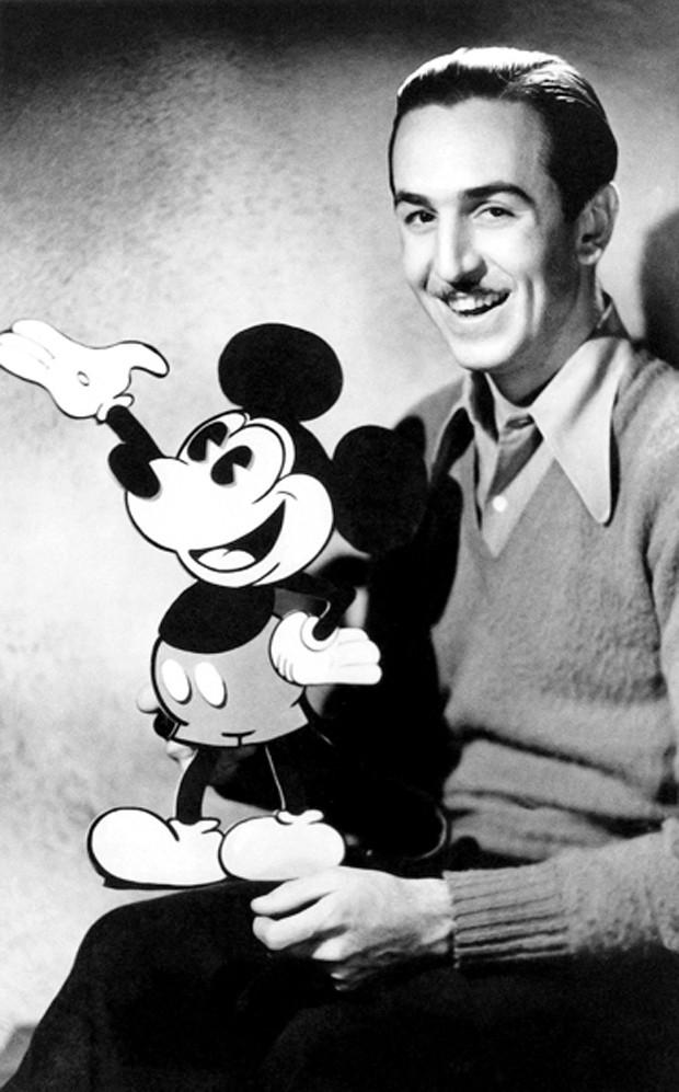 Walt Disney e Mickey Mouse (Foto: Oh My Disney/Reprodução)
