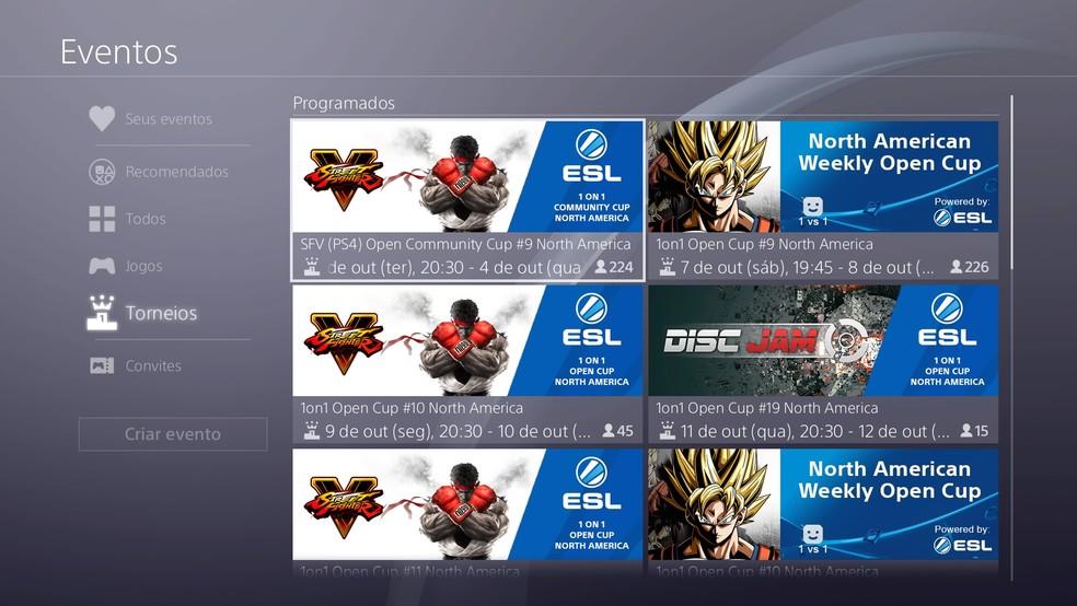 Será possível jogar torneios em equipe no PS4 (Foto: Reprodução/Felipe Vinha)