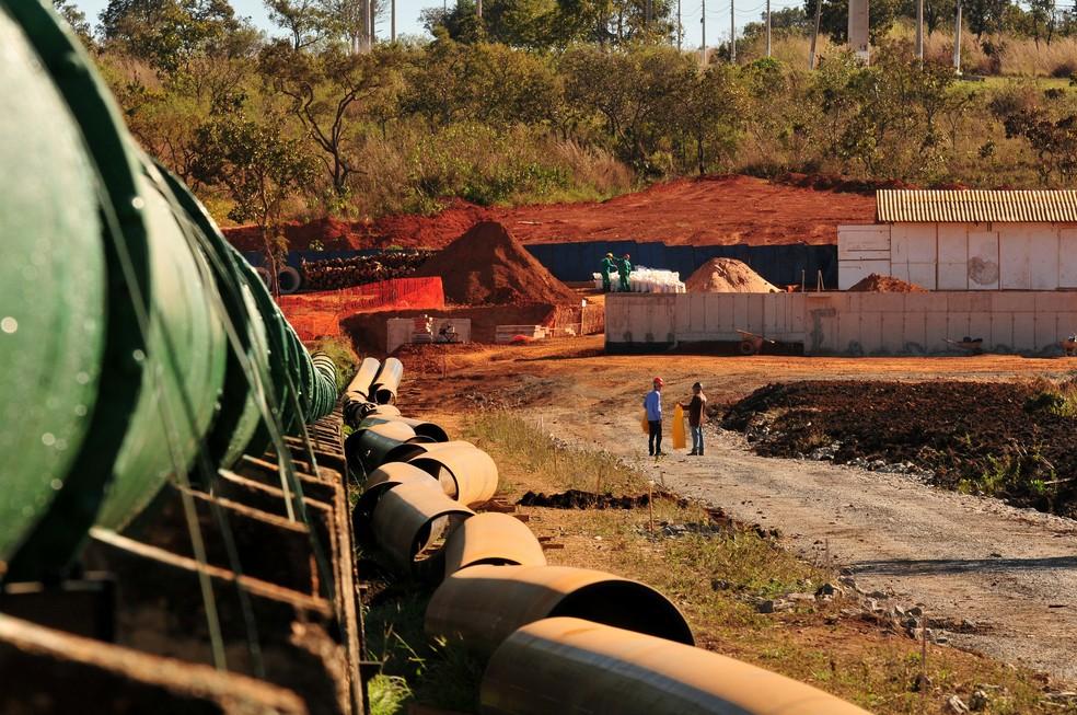 Canteiro de obras da subestação do Bananal (Foto: Tony Winston/Agência Brasília)