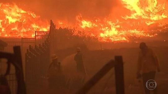 'Quando vi as chamas, não acreditei', conta sobrevivente de incêndio na Califórnia