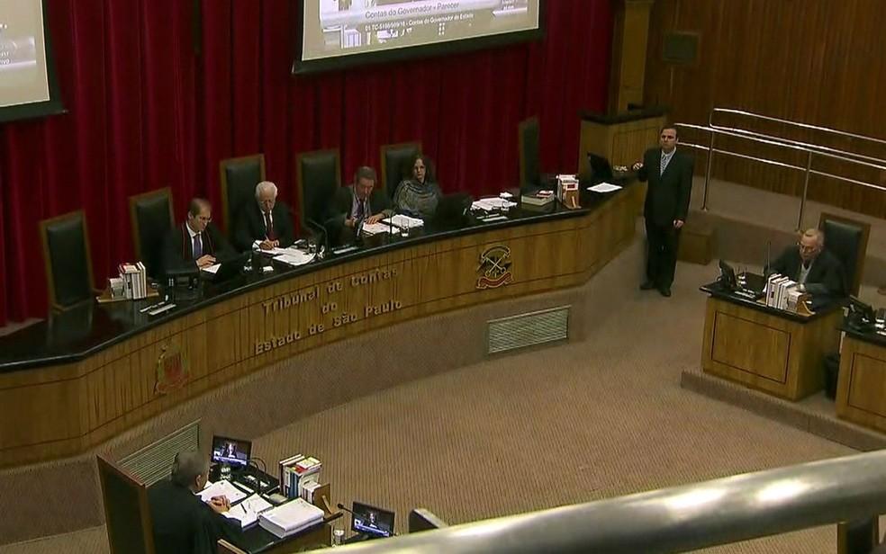 TCE aprova contas de Alckmin (Foto: TV Globo/Reprodução)