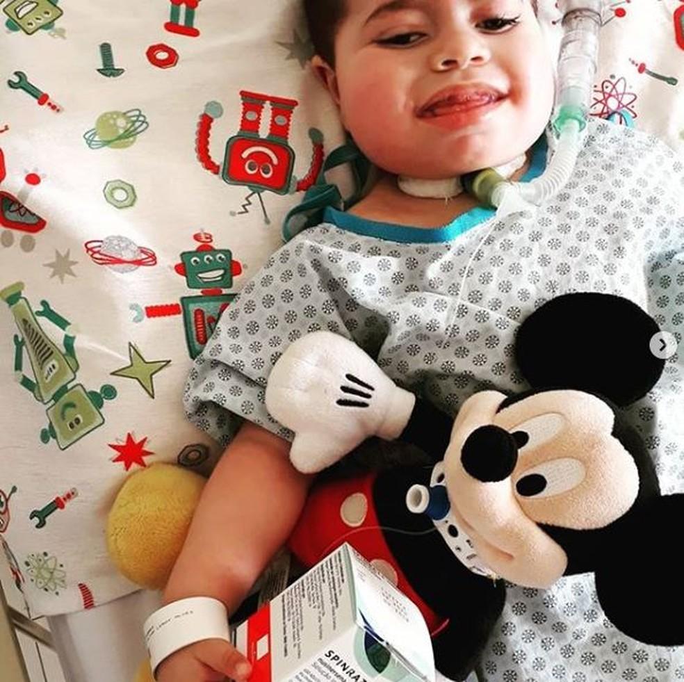 João Miguel lutava contra uma atrofia muscular espinhal (AME) — Foto: Reprodução/Redes sociais