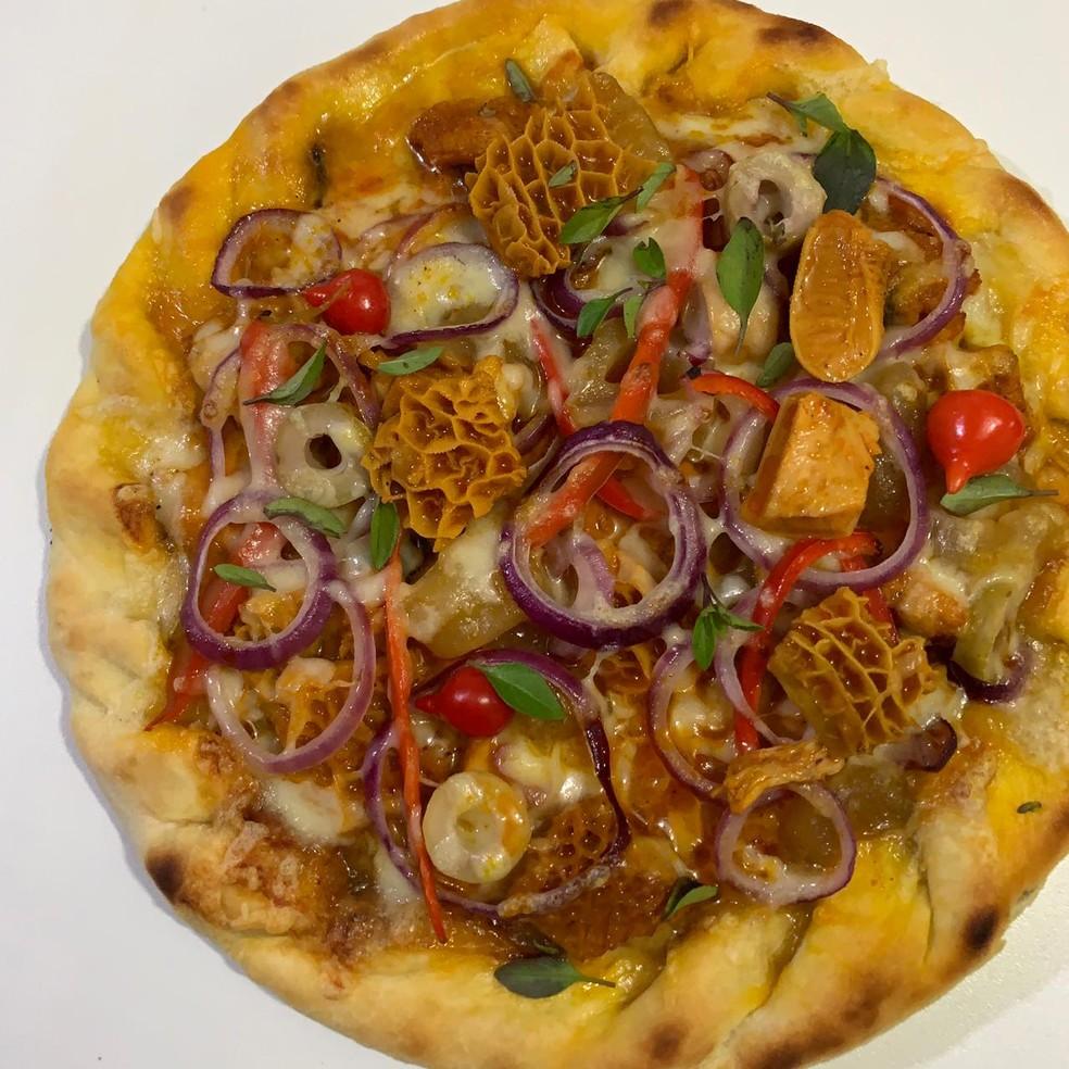 """""""Pizza de panelada"""" feita em Teresina gera opiniões nas redes sociais.  — Foto: Foto: Reprodução/Casa da Panelada"""
