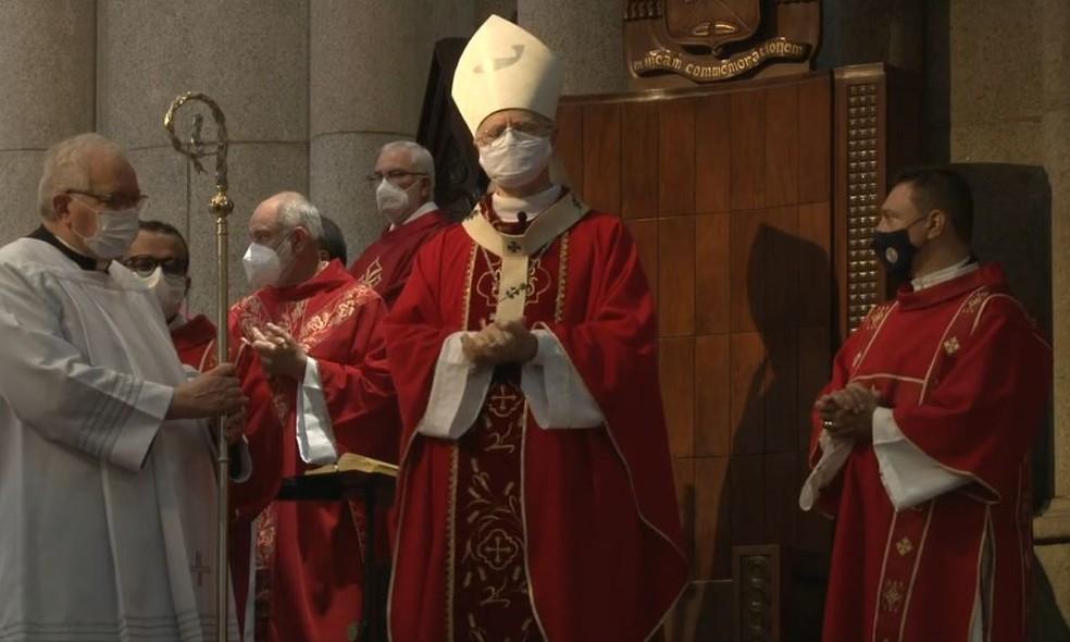 Celebração eucarística foi presidida pelo cardeal Odílo Pedro Scherer, Arcebispo Metropolitano, com a participação de representantes da Igreja, autoridades públicas e de outras instituições religiosas, sociais e culturais. — Foto: Reprodução