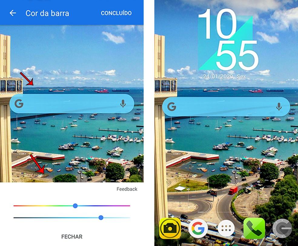Personalize o widget da barra de pesquisa do Google App — Foto: Reprodução/Marcela Franco