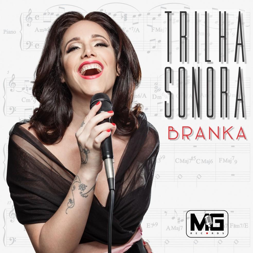 Capa do álbum 'Trilha sonora', de Branka — Foto: Divulgação