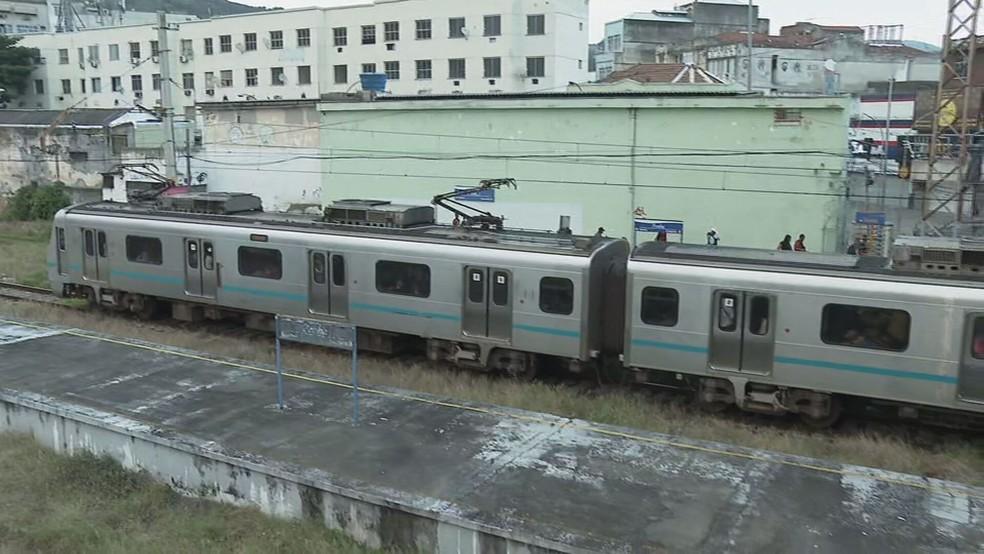 Trem da Supervia — Foto: Reprodução/ TV Globo