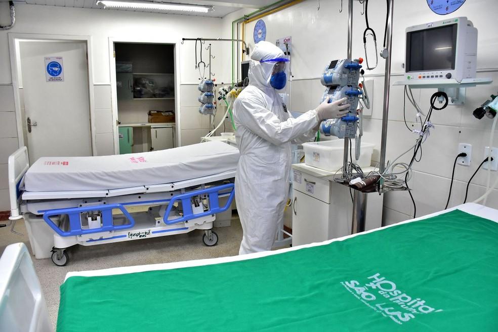 Leito de UTI no Hospital da Mulher em São Luís — Foto: A.Baeta