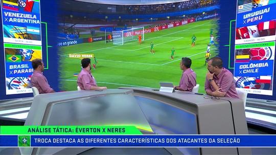 Comentaristas mostram diferença entre David Neres e Everton Cebolinha