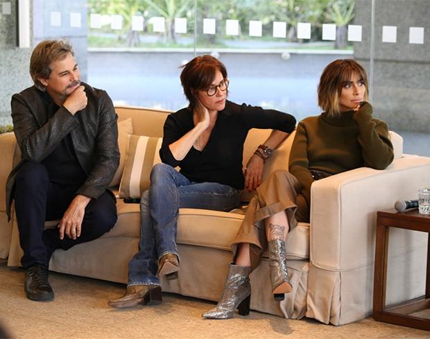 Edson Celulari, Christiane Torloni e Cléo Pires (Foto: Deividi Correa / AgNews)