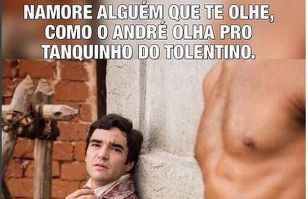 O romance de André (Caio Blat) e Tolentino (Ricardo Pereira) em 'Liberdade, liberdade' repercutiu (Foto: Reprodução Internet)