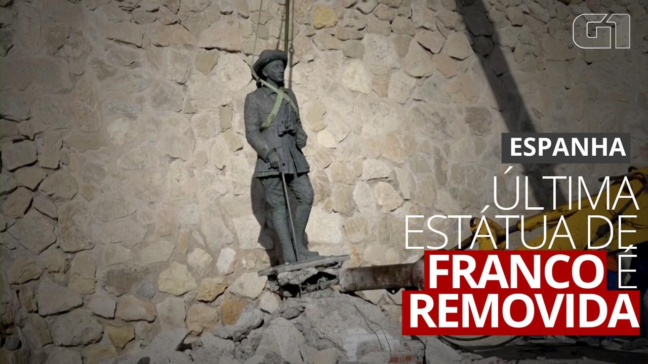 Última estátua de Franco é removida na Espanha