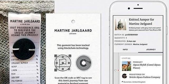 Um código QR Code vinha na etiquetas de uma coleção em lã de alpaca da designer londrina Martine Jarlgaard. O código informava o histórico da peça, ao longo de toda a cadeia produtiva.  (Foto:  Reprodução)