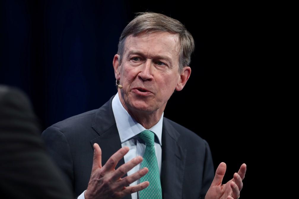 O pré-candidato democrata John Hickenlooper. — Foto: Lucy Nicholson/Reuters