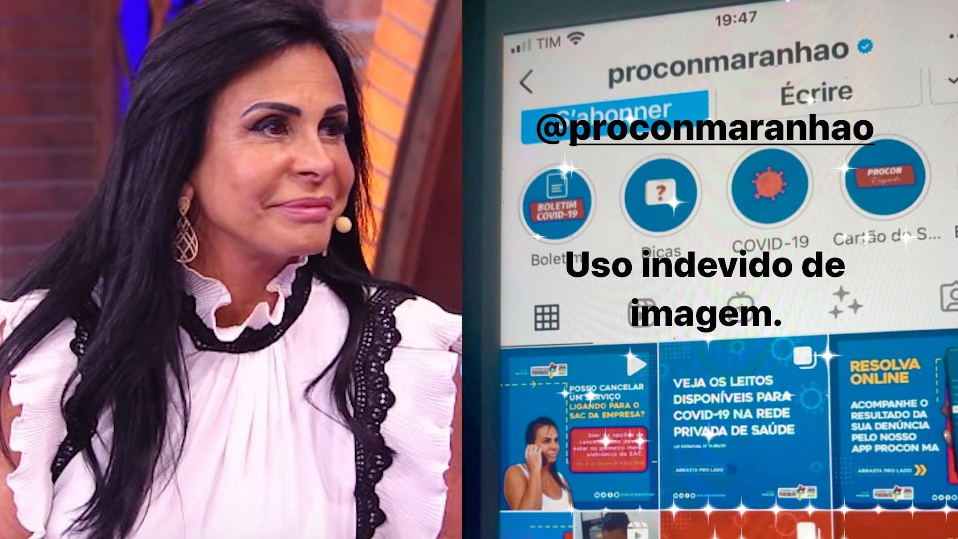 Gretchen adverte Procon do Maranhão por uso indevido de imagem em post nas redes sociais