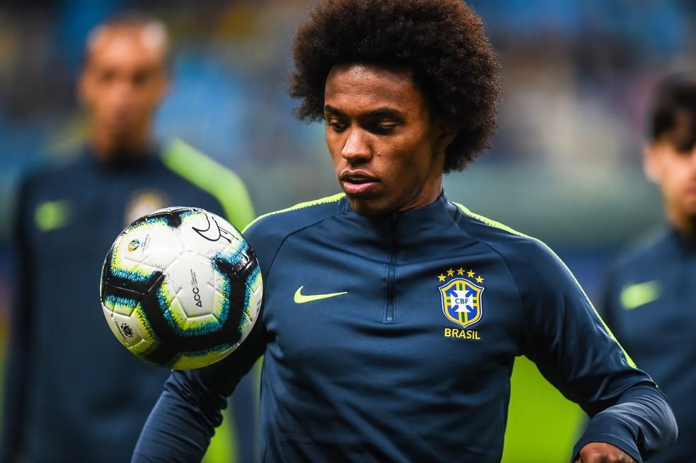 Willian desfalca seleção brasileira na final da Copa América — Foto: Vinícius Costa/BP Filmes