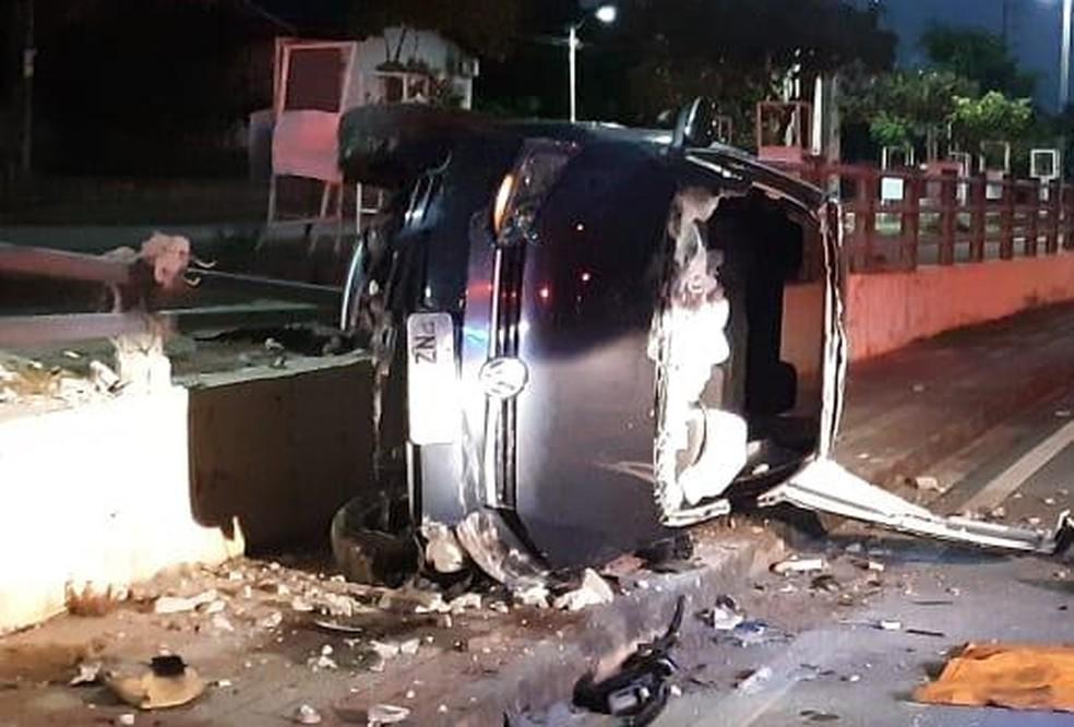 Acidente aconteceu na Avenida Alberto Craveiro, próximo à Arena Castelão. — Foto: Reprodução