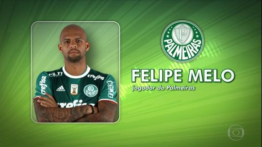 """""""Cada dia melhor"""", Felipe Melo volta ao vestiário que quase o tirou do Palmeiras há um ano"""