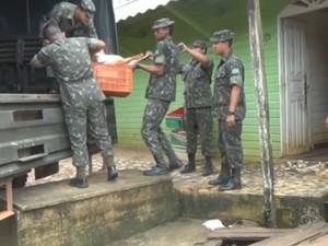 Operação Ágata 8 em Oiapoque, no Amapá (Foto: Reprodução/TV Amapá)