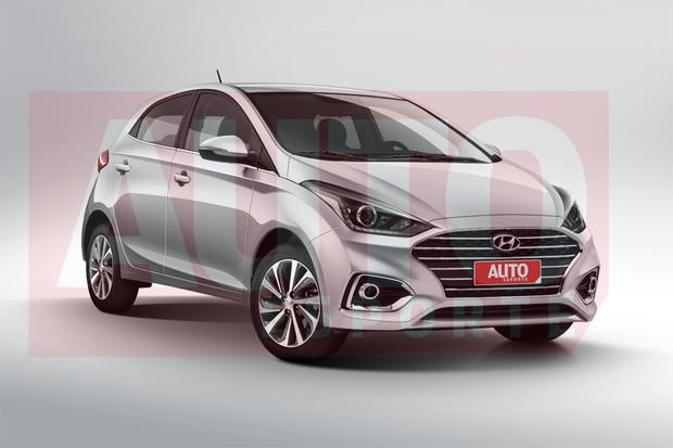 Projeção mostra que o HB20 será uma evolução de estilo do modelo de primeira geração (Foto: João Kleber Amaral/Autoesporte)