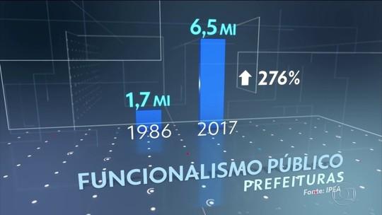 Nº de funcionários públicos no Brasil mais que dobrou nos últimos 30 anos