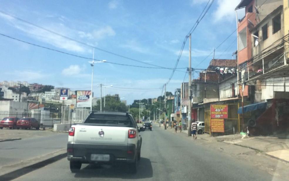 Trecho do Ogunjá, em Salvador, terá trânsito alterado no domingo (20) — Foto: Valma Silva / G1